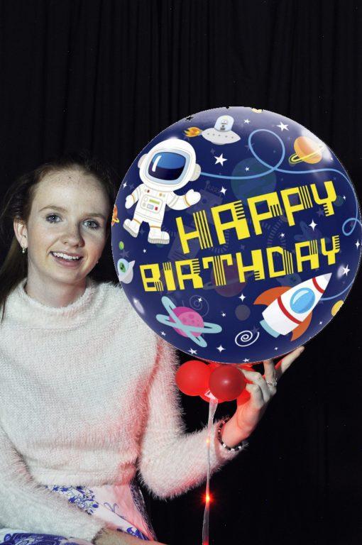 Space Birthday Bubble