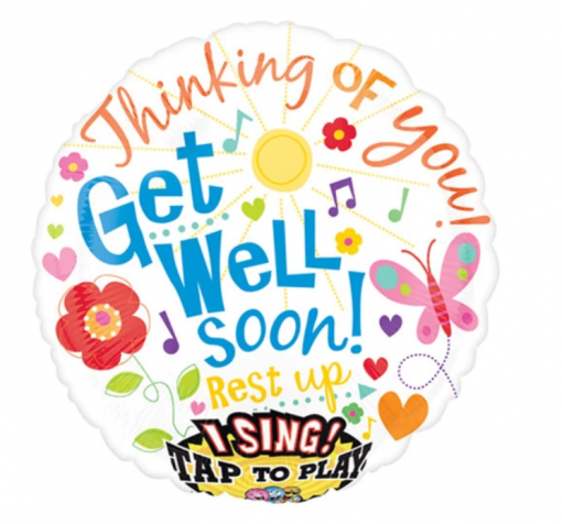 GET WELL SOON SINGING BALLOON