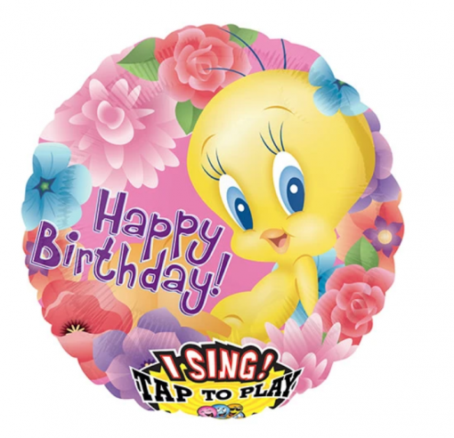 HAPPY BIRTHDAY TWEETIE SINGING BALLOON
