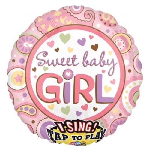 SWEET BABY GIRL SINGING BALLOON