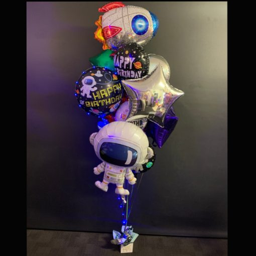 Out of this world spaceman balloon bouquet