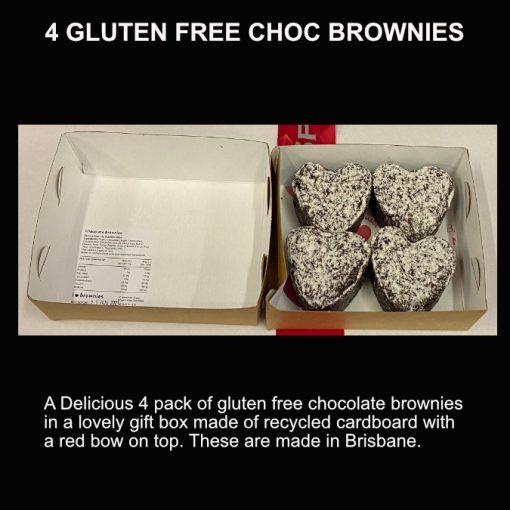 4 gluten free chocolate brownies